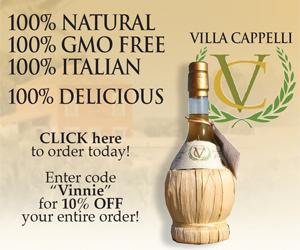 "Villa Cappelli Olive Oil - Enter code ""Vinnie"""