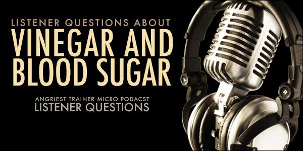 Vinegar and Blood Sugar